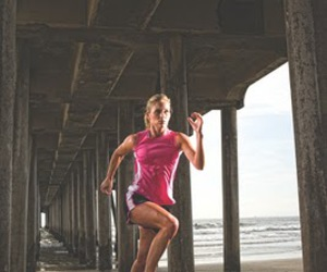 athlete, athletic, and beach image
