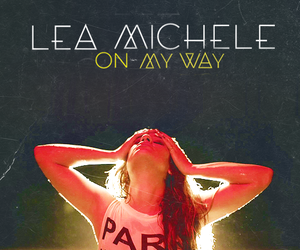 lea michele, on my way, and louder image