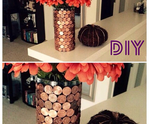 diy, coins, and flowers image