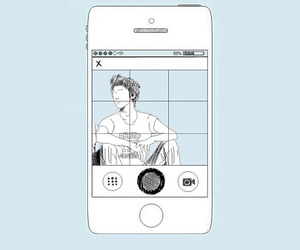blue, phone, and drawing image