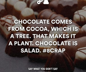chocolate, salad, and cocoa image