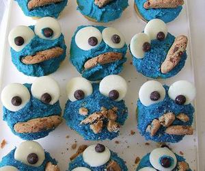 cupcake, cookie monster, and Cookies image
