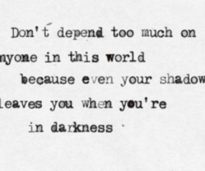 quotes, Darkness, and shadow image