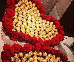 chocolate, rose, and red image