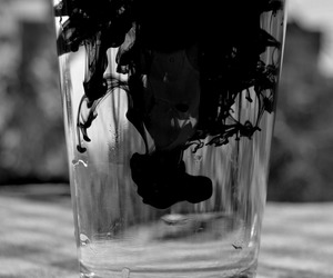 black and water image