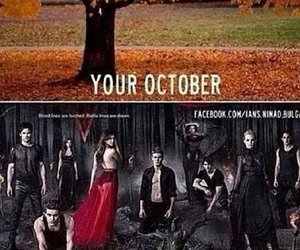 october, the vampire diaries, and tvd image