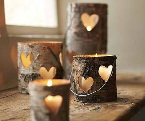candle, heart, and light image