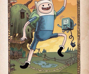 bmo, adventure time, and finn the human image