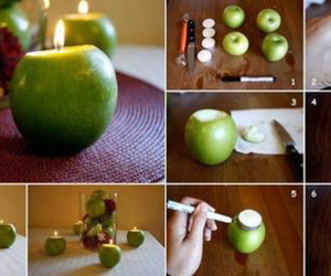 diy, apple, and candle image