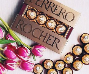chocolate, ferrero rocher, and sweets image