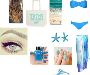beach, blue, and outfits image
