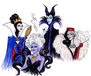 disney, ursula, and maleficent image