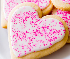 pink, Cookies, and sugar cookies image