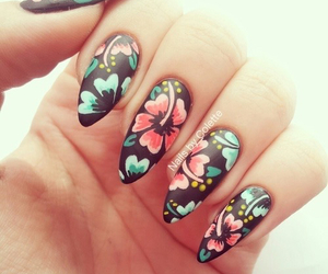 art, cool, and stiletto nails image