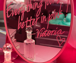 pink, Victoria's Secret, and mirror image