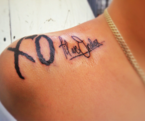 tattoo, the weeknd, and xo image