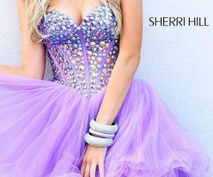 dress, purple, and sherri hill 21101 image