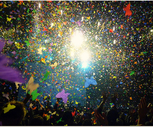 coldplay, confetti, and glendale image