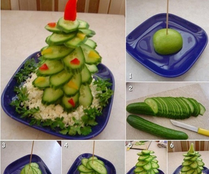 diy, christmas, and cucumber image