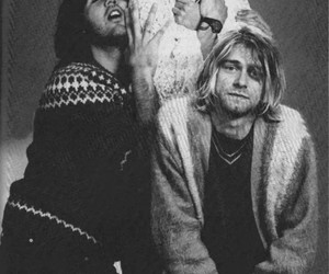 band, music, and kurt cobain image