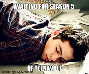 teen wolf, waiting, and season 5 image