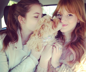 barbara palvin, bella thorne, and dog image