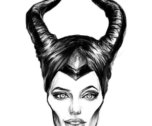 maleficent, art, and Angelina Jolie image
