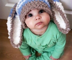 baby, beautiful, and bunny image