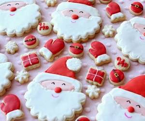 christmas, santa, and Cookies image