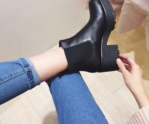 ankle boots, girly, and pale image