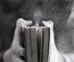 black and white, book, and grunge image