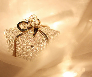 gift, present, and gold image