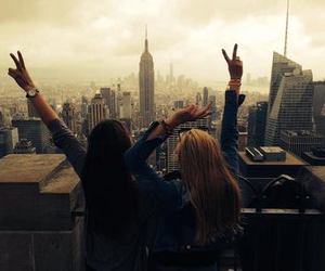 new york, city, and friends image