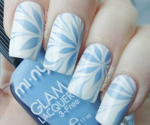 light blue, nail art, and water marble image