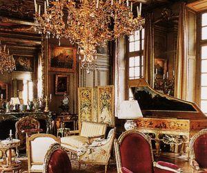 antique, chandelier, and design image