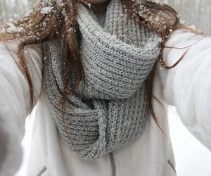 winter, girl, and scarf image