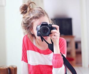 camera, girl, and love image