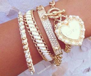 bracelet, fashion, and diamond image