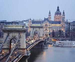 city, budapest, and travel image