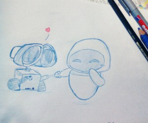 disney, drawing, and drawings image