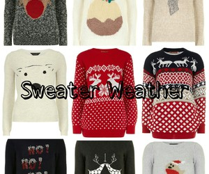 sweater, christmas, and fashion image