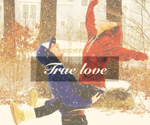 boy and girl, christmas, and couple image