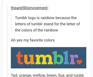 funny, rainbow, and tumblr image