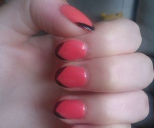 fashion, pink and black, and art nails image