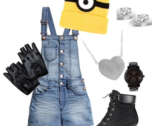 black, clothes, and minions image