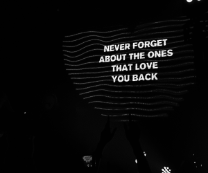 black and white, real friendship, and concert image