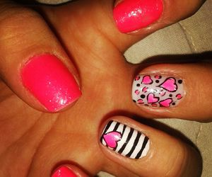 hearts, nails, and manicure image