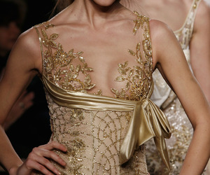 fashion, gold, and dress image