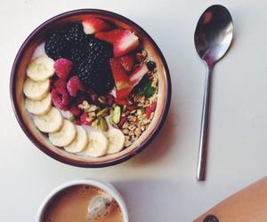 food, fruit, and coffee image