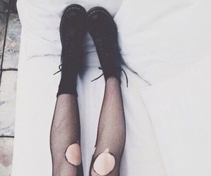 grunge, black, and legs image